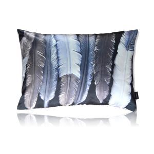 Modern Feather Pattern Satin Printing Pillow Cover
