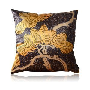 Japanese Pine And Cypress Pattern Elements Satin Printing Pillow Cover