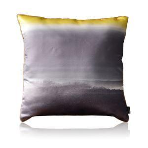 Modern Yellow-gray Gradient Satin Printing Pillow Cover
