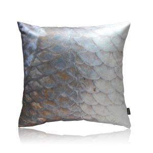 Modern Fish Scales Pattern Satin Printing Pillow Cover