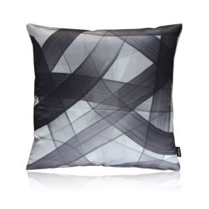 Modern Black And White Line Pattern Satin Printing Pillow Cover