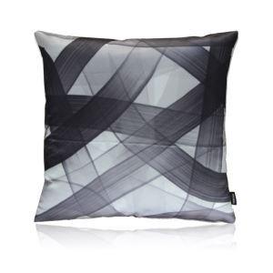 Modern Black And White Line Pattern Satin Printing Pillow