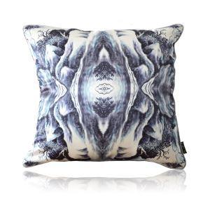 Modern Chinese Landscape Painting Pattern Satin Printing Pillow