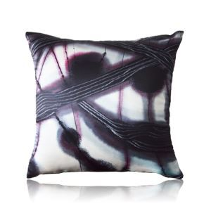 Modern Chinese Ink Patterns Satin Printing Pillow Cover