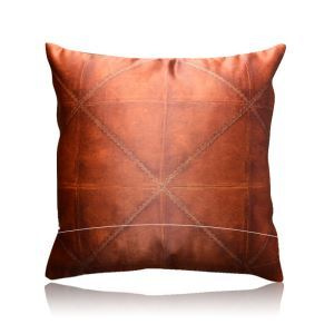 Modern Leather Texture Pattern Satin Printing Pillow