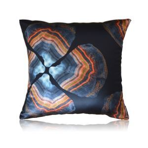 Modern Agate Stone Texture Pattern Satin Printing Pillow