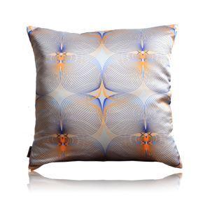 Modern Line Totem Orange Satin Printing Pillow