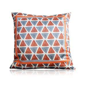 Modern Geometric Pattern Orange Satin Printing Pillow