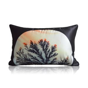 Japanese Kimono Style Pattern Elements Satin Printing Pillow Cover