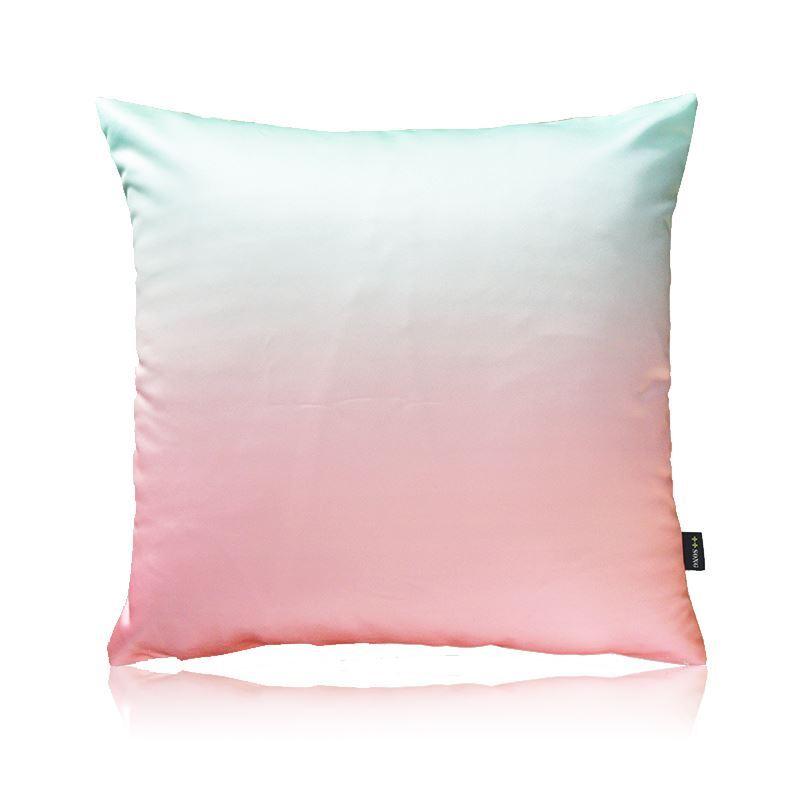 Home Textiles - Throws & Pillows - Silk Pillows - Modern Color Gradient Satin Printing Pillow Cover