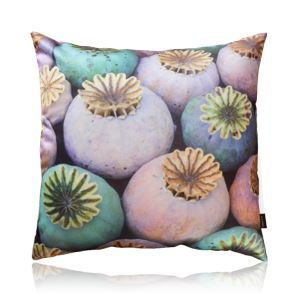 Modern Poppy Flower Bud Pattern Satin Printing Pillow Cover