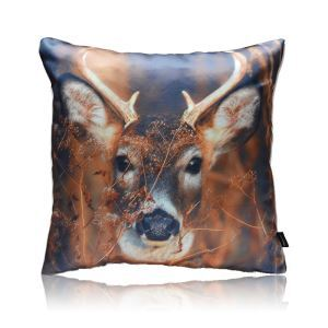 Modern Deer Head Pattern Stain Printing Pillow Cover
