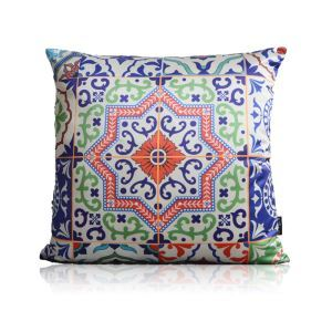 European Classical Traditional Symmetrical Pattern Stain Printing Pillow