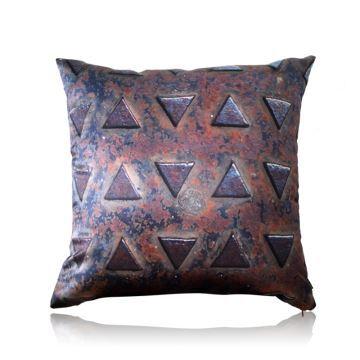 Home Textiles - Throws & Pillows - Silk Pillows - Modern Industrial Style Metal Texture Stain ...