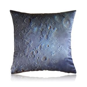 Modern Industrial Style Moon Texture Stain Printing Pillow Cover