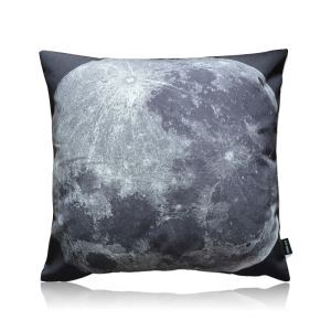 Modern Industrial Style Moon Texture Stain Printing Pillow