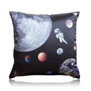 Modern Industrial Style Astronaut Space Theme Stain Printing Pillow Cover