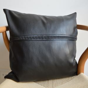 Modern Industrial Style Faux Sheepskin Soft Black Pillow