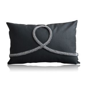 Modern Industrial Style Lichee Pattern Like Leather Handmade Metal Pillow