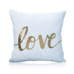 Modern Simple Super Soft English Letter Bronzing Scalding Silver Cotton And Linen Car Sofa Pillow Cover