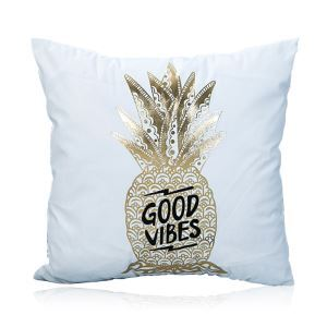 Modern Simple Super Soft Pineapple Bronzing Scalding Silver Cotton And Linen Car Sofa Pillow Cover