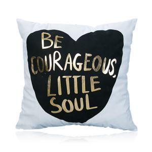 Modern Simple Super Soft English Letter Bronzing Scalding Silver Cotton And Linen Car Sofa Pillow