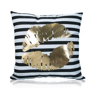 Modern Simple Super Soft Mouth Bronzing Scalding Silver Cotton And Linen Car Sofa Pillow