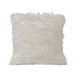 European Simple Faux Fur Fuzzy White Pillow Cover