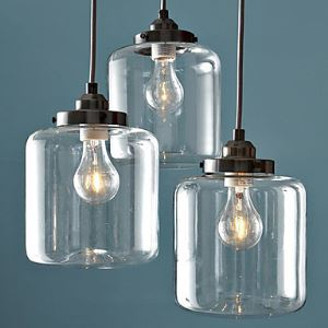 Modern Transparent Glass Pendant Light  Iron with 3 Lights Dining Room Lighting Ideas Living Room Bedroom Lighting