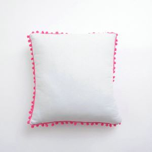 Simple Modern Cotton Balls Decorated Pillow Cover