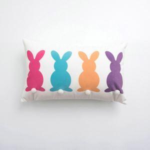 Simple Modern Velvet Rabbit Pattern Pillow Cover