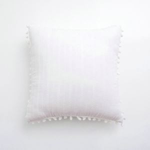 Simple Modern Cotton Embroidered Balls Decorated Pillow Cover