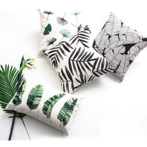 Simple Modern Green Environmental Protection Velvet Plant Pattern Computer Printing Pillowcases 6 Pcs