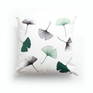 Simple Modern Velvet Ginkgo Leaves Pillow Cover