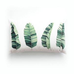 Simple Modern Velvet One Slice Plantain Leaves Pillow