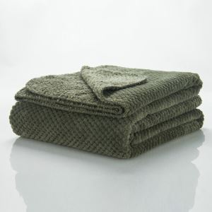 Modern Super Soft Big Waffle Large Army Green Blanket Air Conditioning Blanket Autumn And Winter Blankets Sofa Blanket Sheets