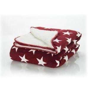Five-pointed Star Lamb Velvet Coral Velvet Double-sided Thicken Blanket Children Blanket Leisure Blanket