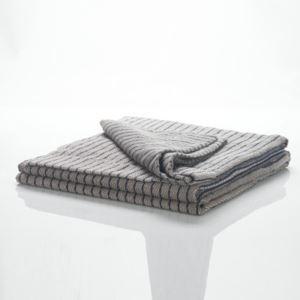 Cotton Walnut Wood Stripes Brown Towel Quilt Blanket