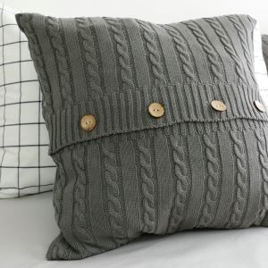 American Village Handmade Plush Buttons Pillow Cover