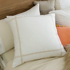 American Village Simple Press Cloth Belt Beige Large Pillow Cover 60*60cm
