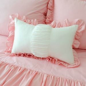 American Village Pure Cotton Princess Style Pink Waist Pillow Cover