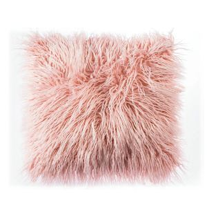 Nordic Modern Plush Faux Beach Wool Fur Solid Color Sofa Pillow Office Large Cushions 5 Colors 45*45cm