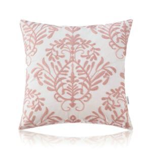 Nordic Modern Stereo Embroidery Flower Pattern Pink Pillow Cover Sofa Office Bedroom Pillow Cover