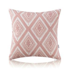 Nordic Modern Stereo Embroidery Lace Pattern Pink Pillow Sofa Office Bedroom Pillow