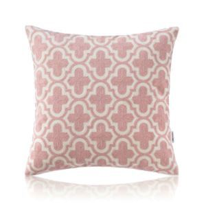 Nordic Modern Stereo Embroidery Tile Pattern Pink Pillow Cover Sofa Office Bedroom Pillow Cover