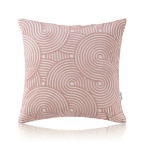 Nordic Modern Stereo Embroidery Wheat Field Circle Pattern Pink Pillow Sofa Office Bedroom Pillow