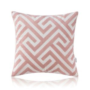 Nordic Modern Stereo Embroidery Maze Pattern Pattern Pink Pillow Cover Sofa Office Bedroom Pillow Cover