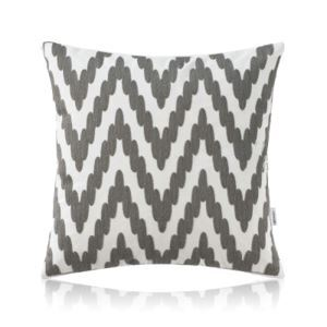 Nordic Modern Stereo Embroidery Wave Pattern Grey Pillow Sofa Office Bedroom Pillow