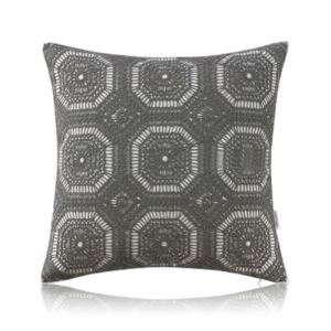 Nordic Modern Stereo Embroidery Grids Lace Pattern Grey Pillow Sofa Office Bedroom Pillow