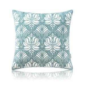 Nordic Modern Stereo Embroidery Flower Pattern Pattern Water Blue Pillow Sofa Office Bedroom Pillow
